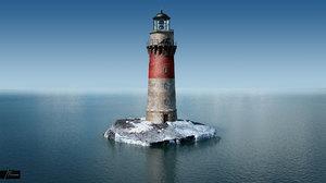 lighthouse polys ocean 3d 3ds