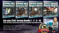 Corona in 3dsmax 2016 Bundle Vol 1 - 2 - 3 - 10 Cd Front
