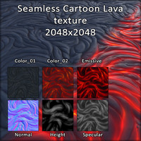 Cartoon Lava texture