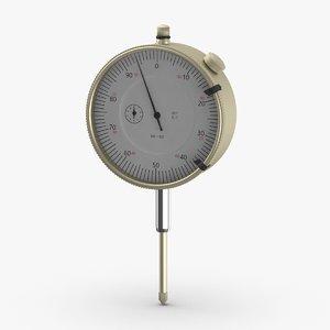dial-indicator-gauge 3D model