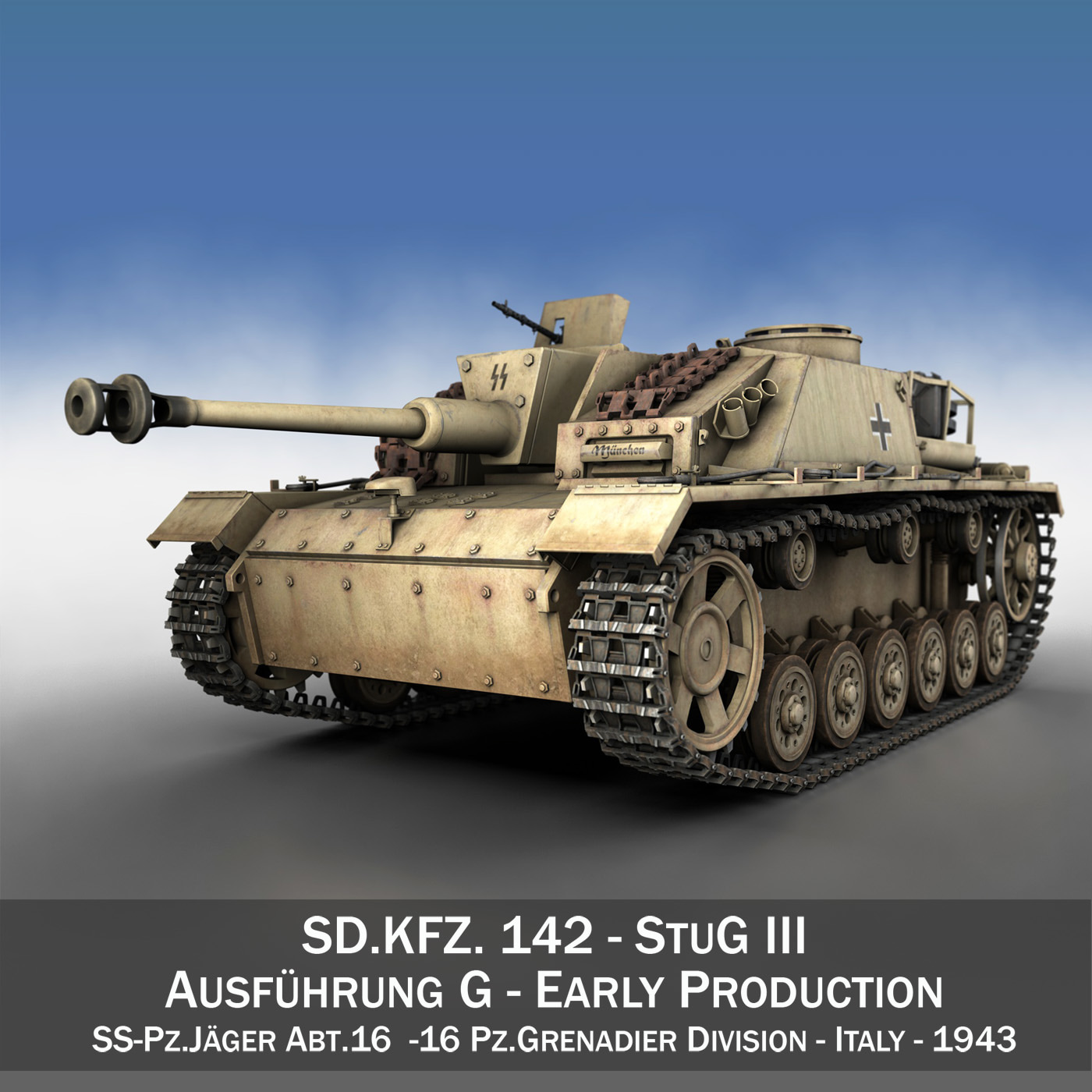 3d model sturmgeschütz iii stug tank destroyer