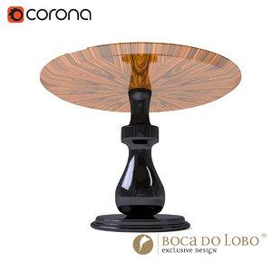 boca lobo coffee table 3d model