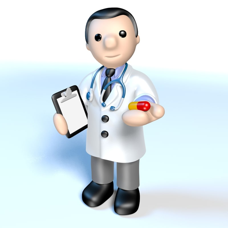 3d doctor stethoscope model