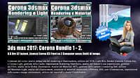 Corona in 3dsmax 2017 Bundle Vol 1.0 e 2.0 Cd Front