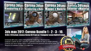 Corona in 3dsmax 2017 Bundle Vol 1 - 2 - 3 - 10 Cd Front