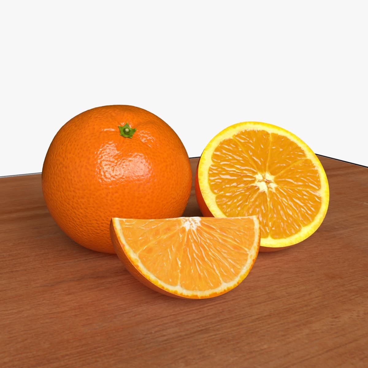 photorealistic orange fruits 3d obj