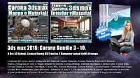 Corona in 3dsmax 2016 Bundle Vol 3.0 e 10.0 Cd Front