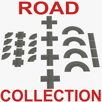 Road Big Collection 3D Models