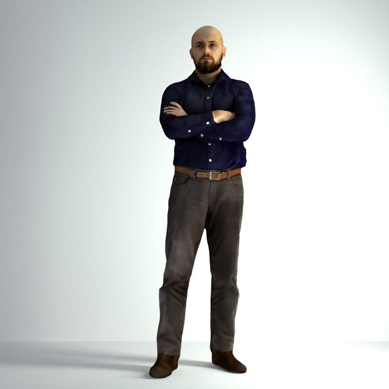 3d model scanned man 004
