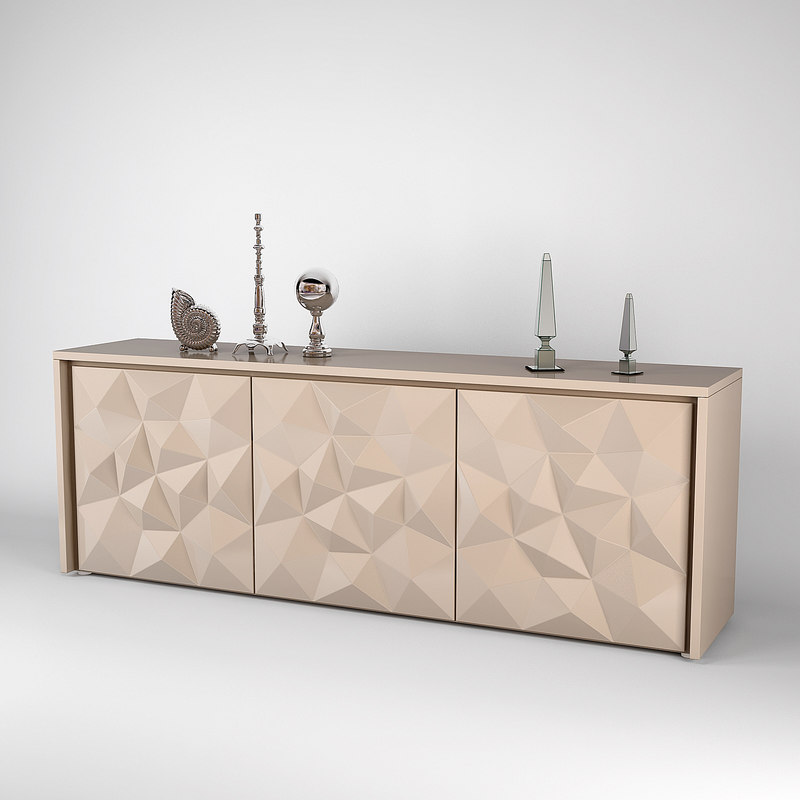 Sideboard fendi madia crystal 3d max for Sideboard 3d