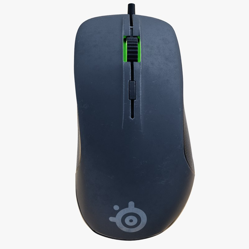 3d steelseries rival mouse model