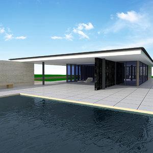 3d model barcelona pavillon