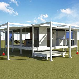 rudolph guest house - 3d model