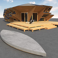 endesa pavillion ecological 3d model