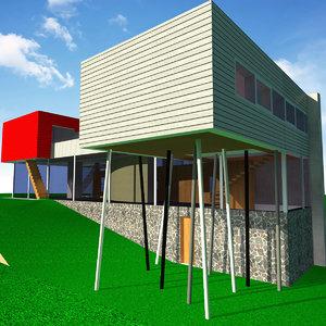 3d villa dall ava model