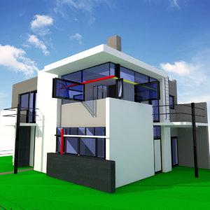 3d model schroder house