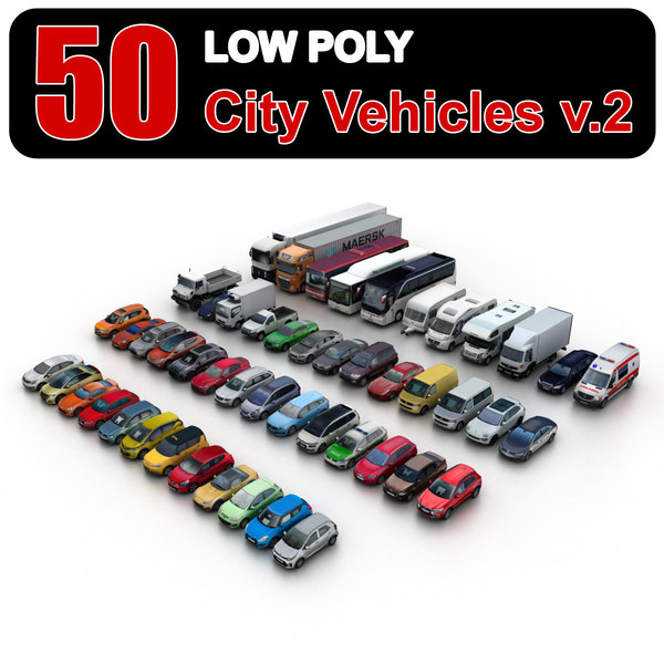 city vehicles sedans 2 3d model