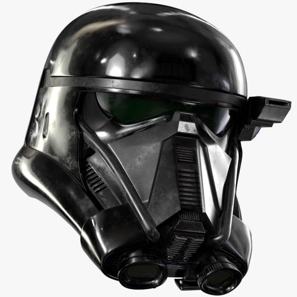3d death trooper helmet