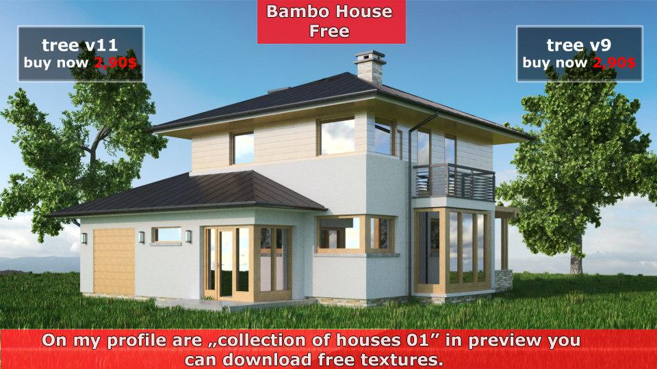 bambo house obj free