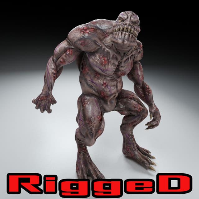 obj rigged troll