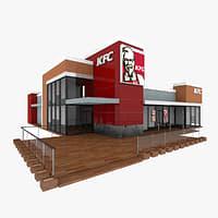 kfc restaurant 3d model