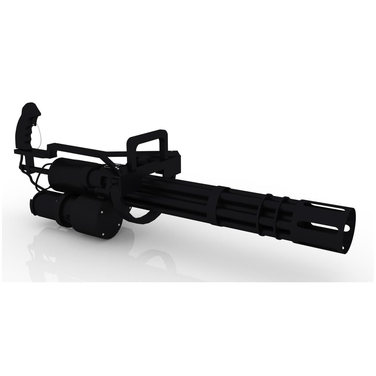 3d model classic m134 minigun