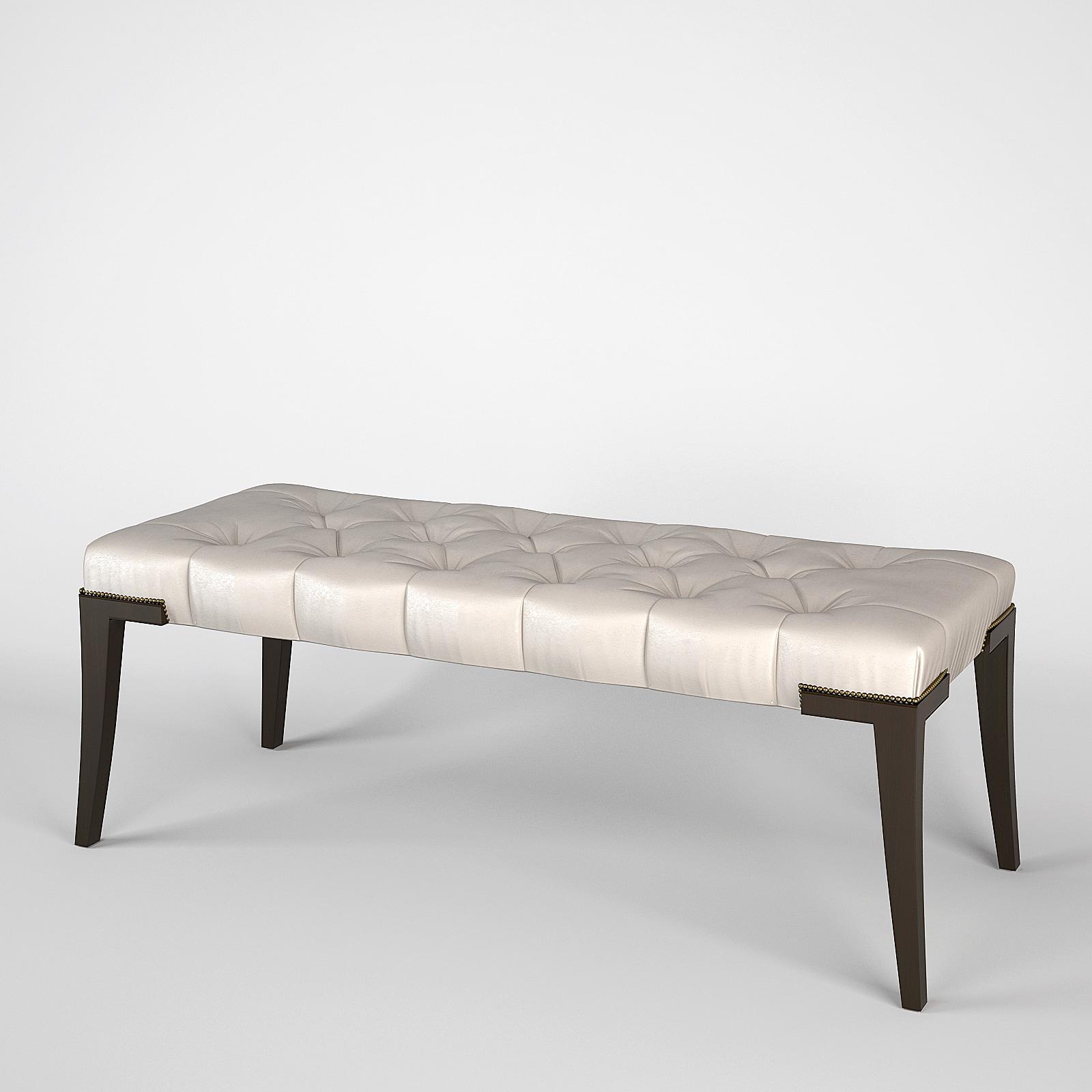 3d model baker adam bench