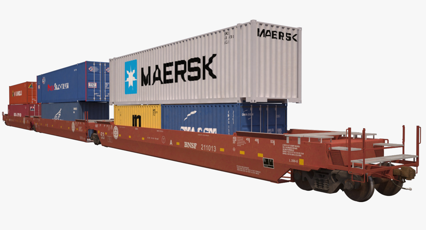 3d double stack s635 containers