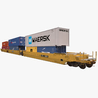 Railroad Double Stack Car S635 TTX