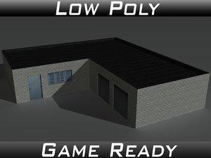 factory building 01 3d model