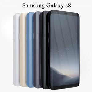 3D model samsung galaxy s8