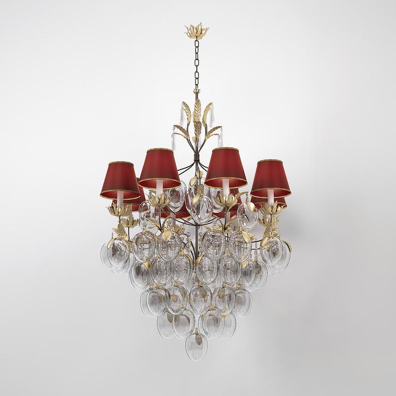 3d chandelier pataviumart ch1880-08nl
