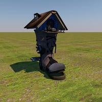 3d shoe fantasy house