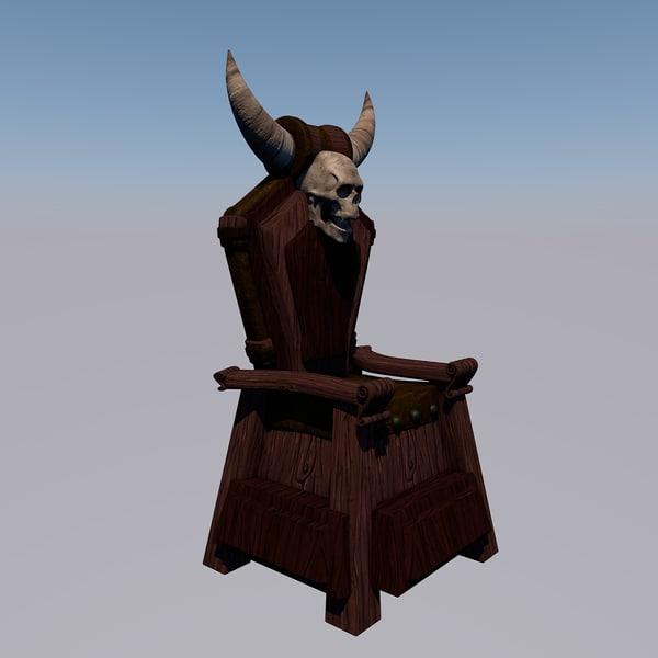 3d throne gothic