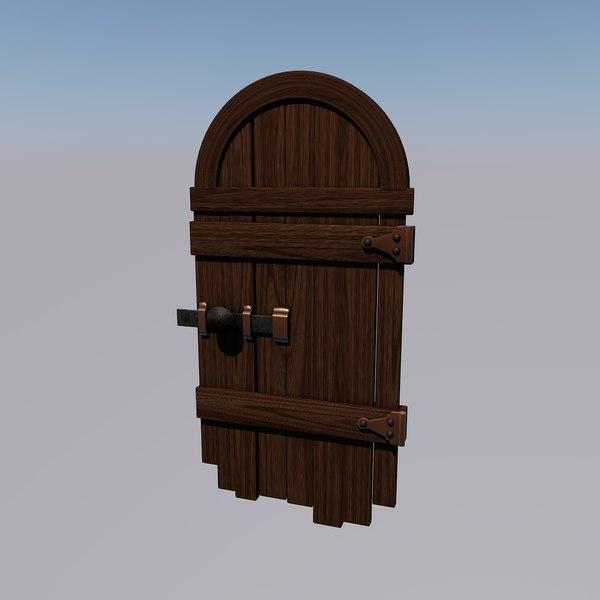 old door 3d c4d