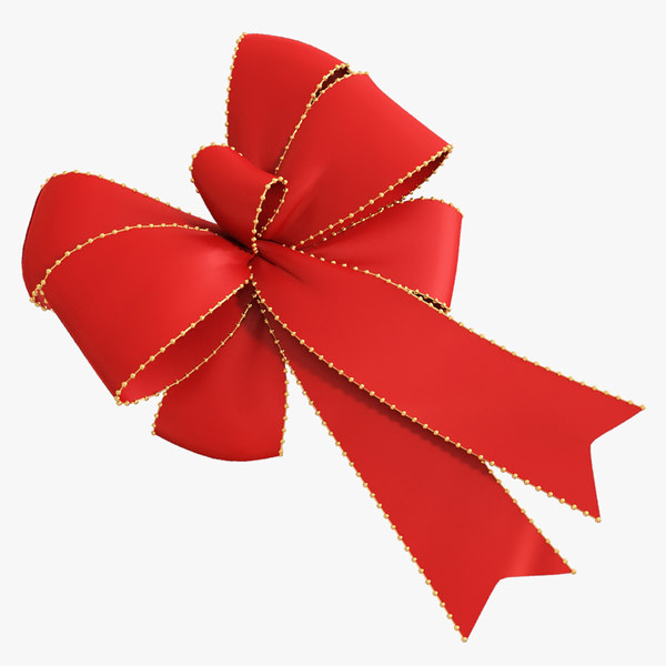 3d model red bow 04