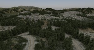 3d model terrain gravel road