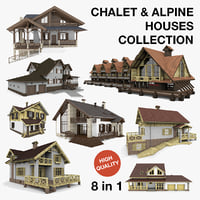 Chalet and Alpine Houses 8 in 1 Collection