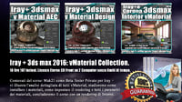 Iray + in 3dsmax 2016 vMaterial Collection. Vol 8 - 9 -10 Cd Front