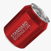 standard 237ml 8oz beverage 3d model