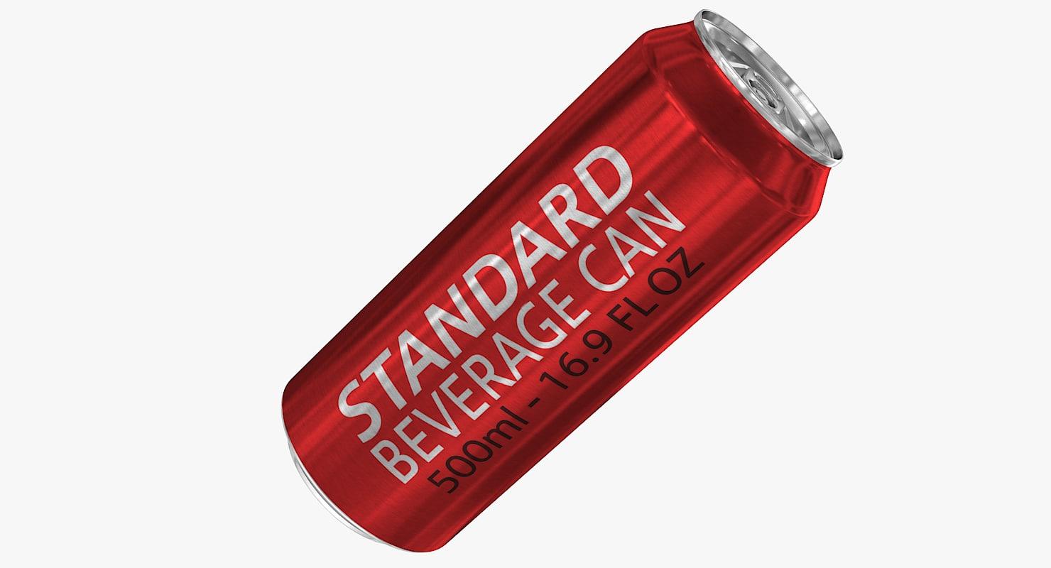 standard 500ml 16 9oz 3d model