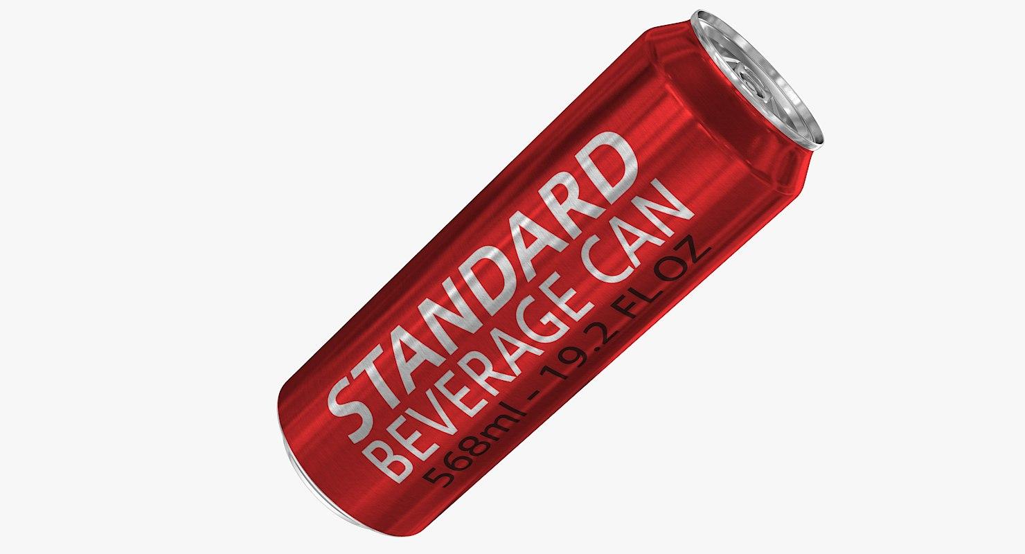 3d model of standard 568ml 19 2oz