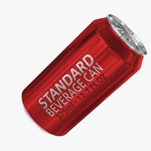 standard 375ml 12 7oz 3d model