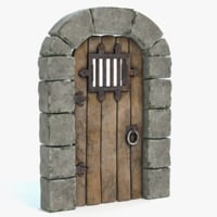 medieval castle door arch 3d 3ds