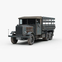 WW2 KRUPP German Truck