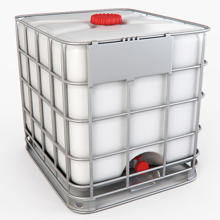 water storage tank 3d max