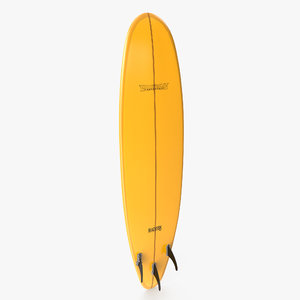 surfboard paddle 3d obj