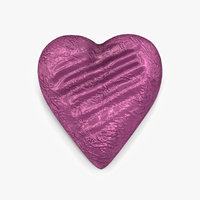 Chocolate Candy Heart in Purple Foil 3D Model