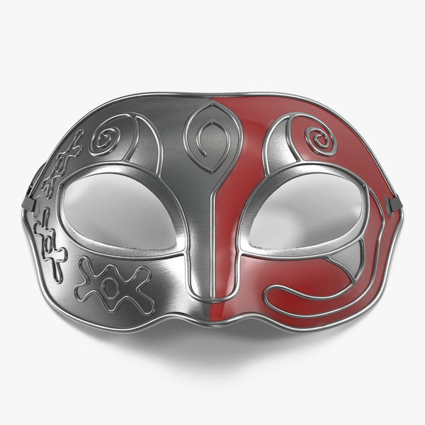 3d model of masquerade mask red