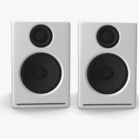 multimedia speakers 3d model